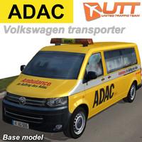 volkswagen transporter adac 3d max