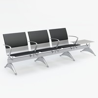3d model airport chair