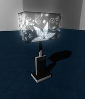 lamp floral 3d model