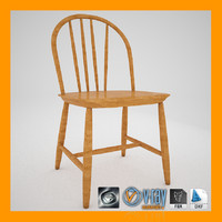swedish windsor chair 3d max