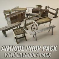 maya antique props pack