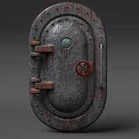 submarine door 3d obj