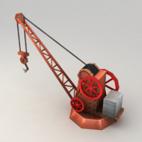steam harbor crane 3d model