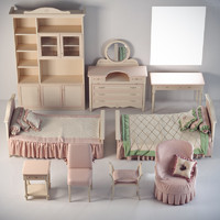 bedroom set ferretti 3d 3ds