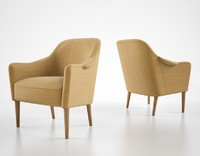 carl malmsten easy chair 3d obj