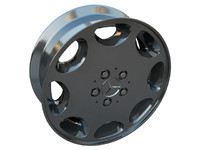 3d model wheel mercedes 8 hole