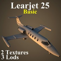 3d model learjet 25 basic