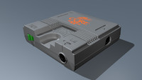 3d console pc engine core model