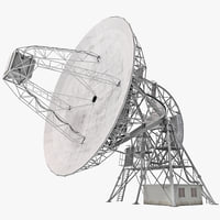 radio telescope observatory 3d model