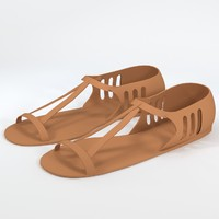 uv-unwrapped sandals shoes footwear 3d max