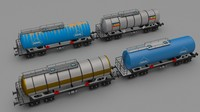3d model train tanker