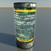 3d model of prop ad column