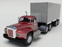 mack b trailer truck 3d max