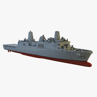uss anchorage 3d model