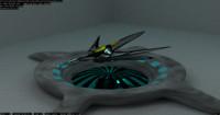 3d model organic space ship