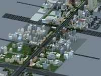 beijing chang avenue 3d model