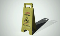 wet floor sign 3d 3ds