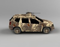 3d model dacia duster armmy