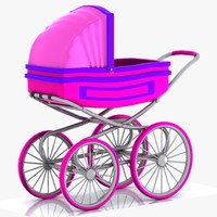 cartoon stroller toon 3d max