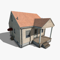 3ds max suburban house