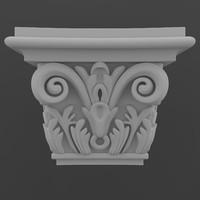 3d model pilaster