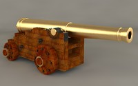 ship cannon 3d model