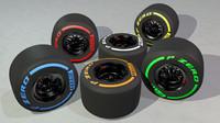 f1 tires types c4d