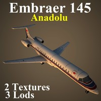 embraer anadolu low-poly 3d model
