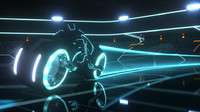 Tron Legacy Light Bike Exact Replica Model Blue Version