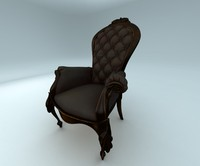 antique old chair 3d max