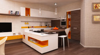 modern kitchen set 3d max