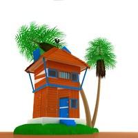 maya small house scene