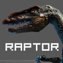 Raptor 3d dino Low Poly