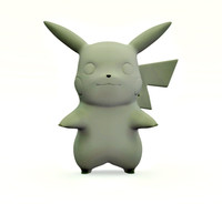 3d pokemon pikachu v2 model