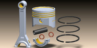 3ds max piston rod parts