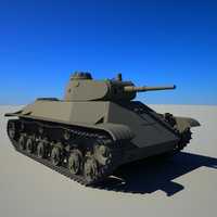 soviet tank t-50 3d 3ds