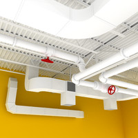 space open set ceiling fbx