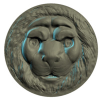maya polys head lion