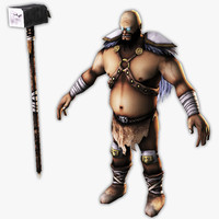 barbarian warrior mobile 3d max