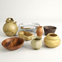 3d bowl set model