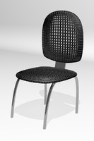 3d plastic metal chair
