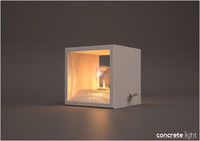 3ds interior design concrete light bulb