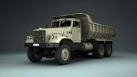 3ds max soviet truck kraz 256b