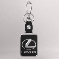 3dsmax realistic lexus car keychain