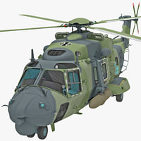 3d model military helicopter nhindustries nh90