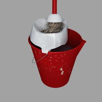 Plastic Pail Used With Mop 1