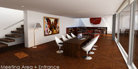 3d model working office