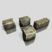 free obj model prop ancient blocks