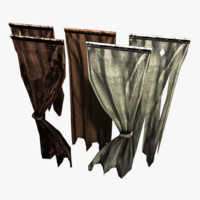 games curtain 3d obj