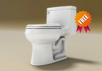 free cimarrÓn toilet 3d model